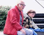 photo of older man with child