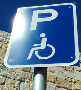 photo of handicapped parking sign. Photo Credit: JHB, Greater Praetoria, South Africa