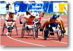 photo of wheelchair racing from paralympics.org