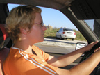 Blonde woman driving. Photo credit: Vedrana Bosnjak, Stobrec, Croatia